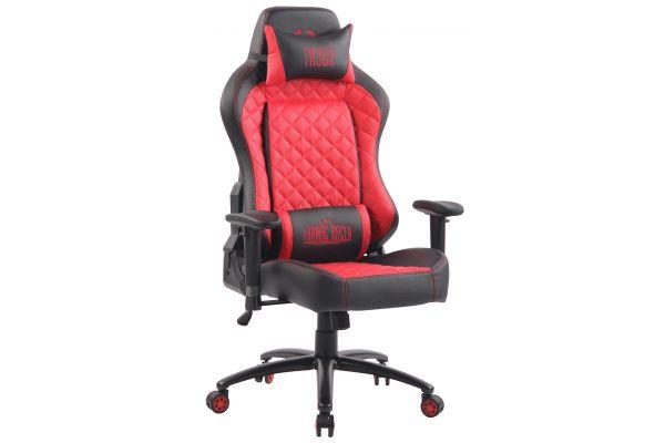 Bürostuhl Rapid Kunstleder schwarz/rot